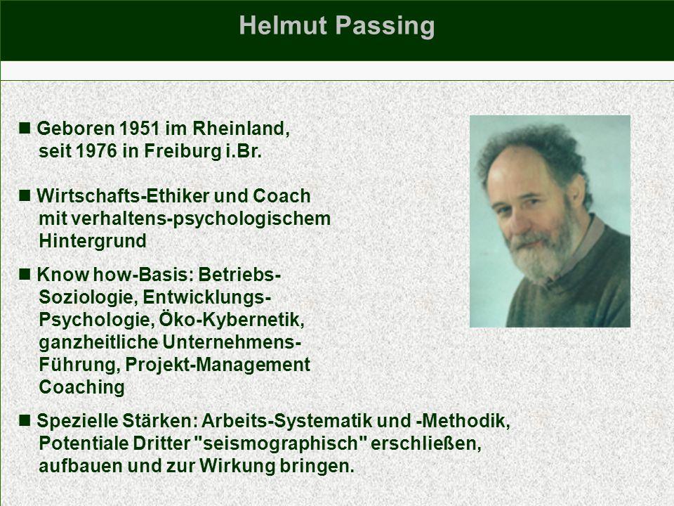 Geboren 1951 im Rheinland, seit 1976 in Freiburg i.Br. Wirtschafts-Ethiker und Coach mit verhaltens-psychologischem Hintergrund Know how-Basis: Betrie