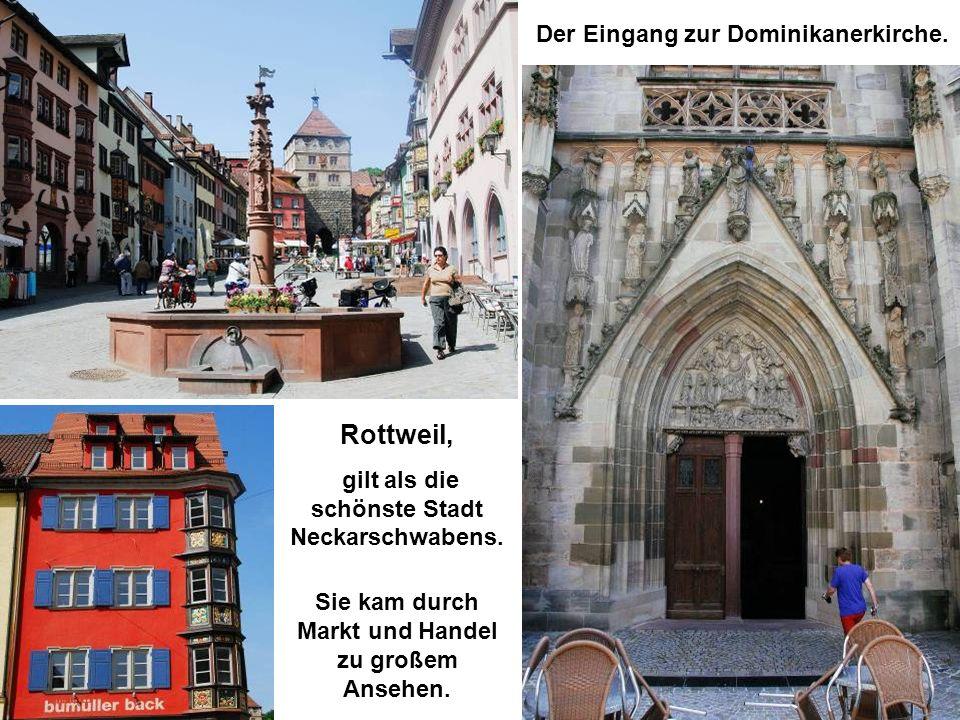 Tübingen, die traditionelle theologische Universitätsstadt, ist nun unser Ziel.