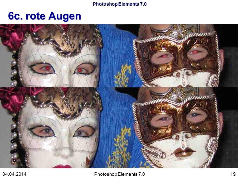 Photoshop Elements 7.0 6c. rote Augen Photoshop Elements 7.01904.04.2014