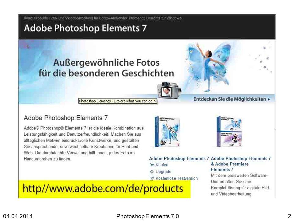 Adobe Photoshop Elements 7.0 Photoshop Elements 7.0204.04.2014