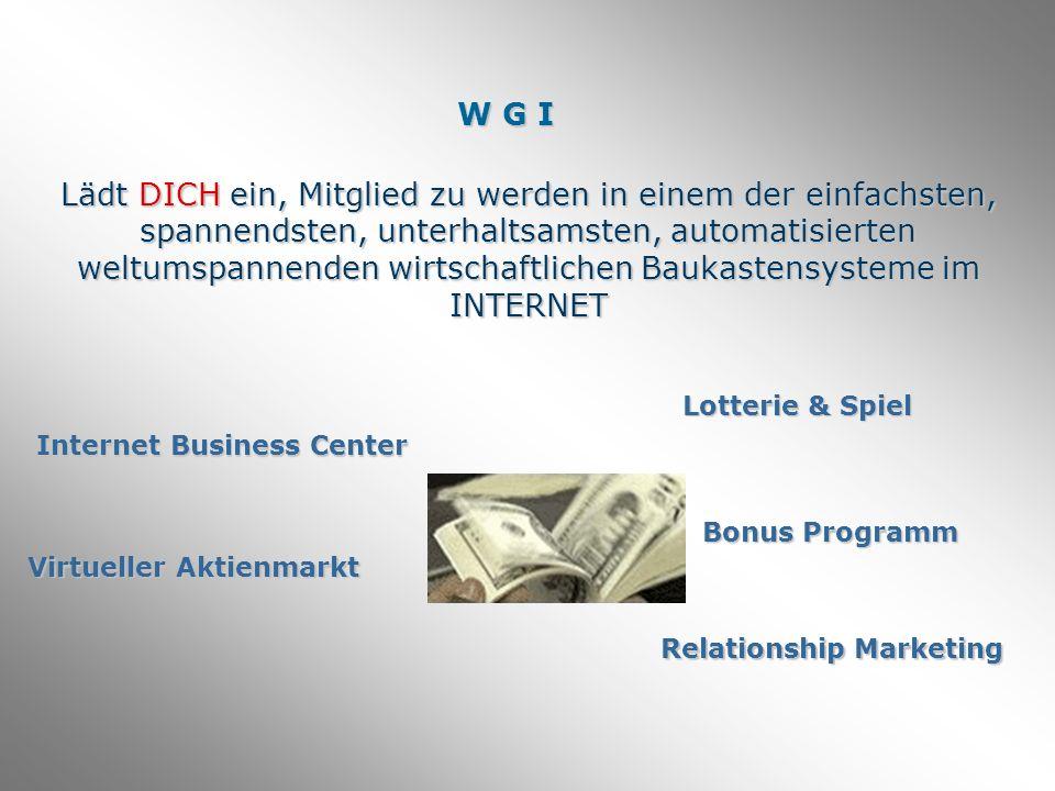 Wenn du WGI Mitglied wirst, bekommst du deine persönliche passwortgeschützte Internetplattform.