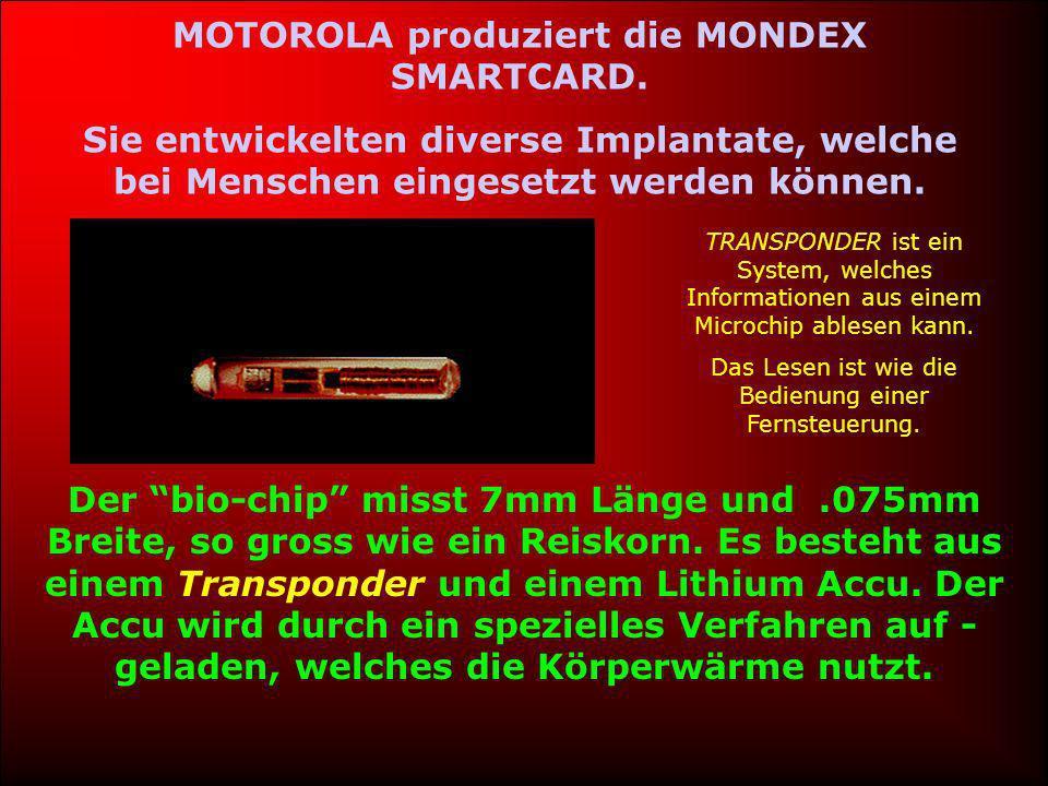 MOTOROLA produziert die MONDEX SMARTCARD.