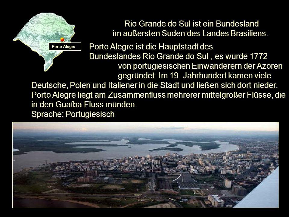 Denkmal O Laçador: Porto Alegre-Wahrzeichen Rio Grande do Sul - Fahne