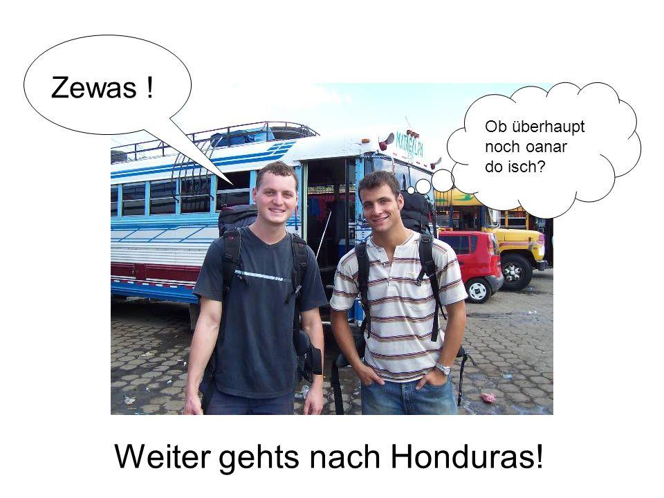 Weiter gehts nach Honduras! Zewas ! Ob überhaupt noch oanar do isch?