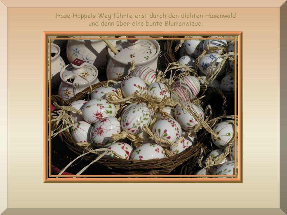 Jetzt denkt ihr sicherlich, dass diese Eier bunt gefärbt waren. Aber damals gab es tatsächlich noch keine bunten Ostereier.