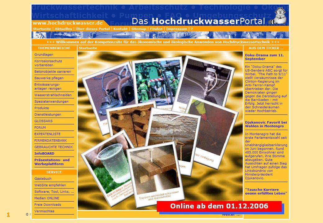© 09.2006 – Bernhard Wilms – www.hochdruckwasser.dewww.hochdruckwasser.de 1
