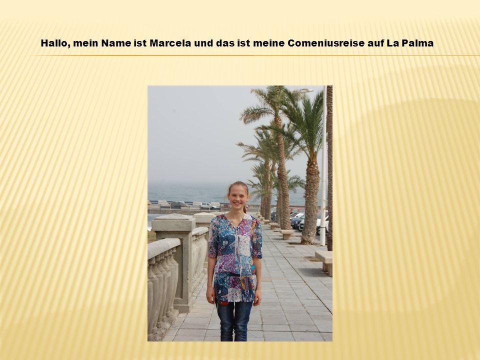 Hallo, mein Name ist Marcela und das ist meine Comeniusreise auf La Palma