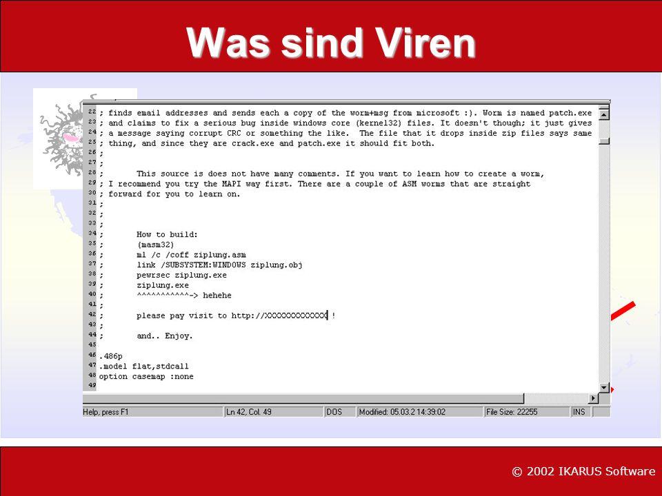 Was sind Viren © 2002 IKARUS Software