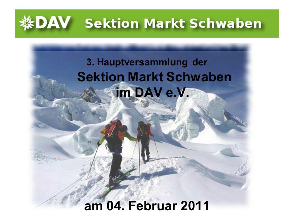 3. Hauptversammlung der Sektion Markt Schwaben im DAV e.V. am 04. Februar 2011