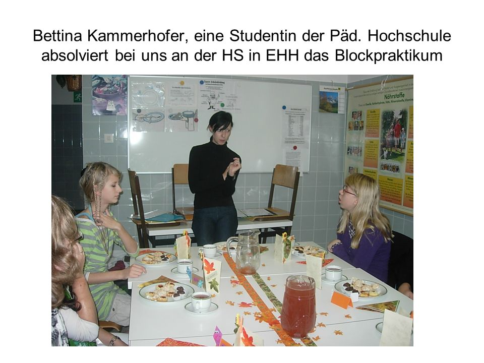 Bettina Kammerhofer, eine Studentin der Päd.