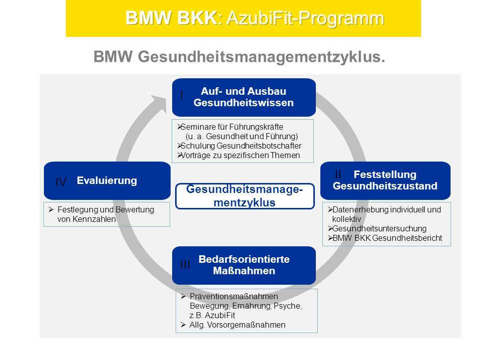Der BMW BKK Gesundheitsbericht für die BMW AG.