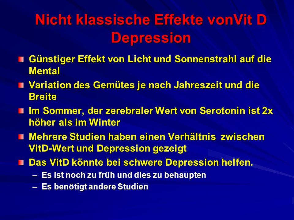 Nicht klassische Effekte vonVit D Depression Günstiger Effekt von Licht und Sonnenstrahl auf die Mental Variation des Gemütes je nach Jahreszeit und d