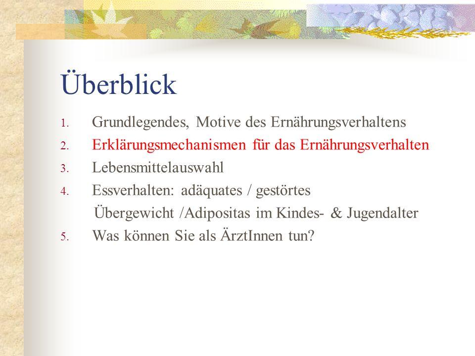 Dietrich et al. 2005. PRESTO- Projekt. (in Vorbereitung) BMI-Zuteilung und Essensmengen