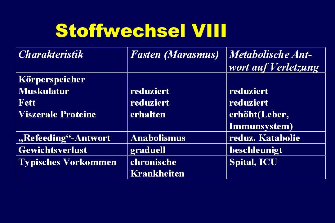 Stoffwechsel VIII