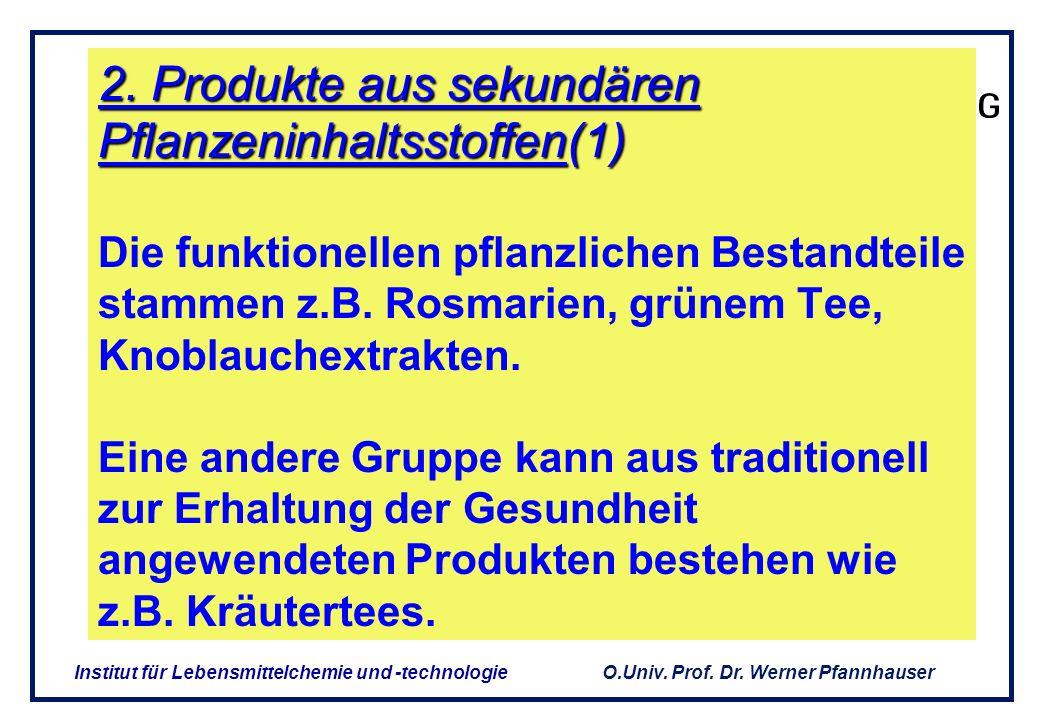 O.Univ. Prof. Dr. Werner Pfannhauser Institut für Lebensmittelchemie und -technologie Nahrungsergänzungsmittel mit Lycopin OxyLyc