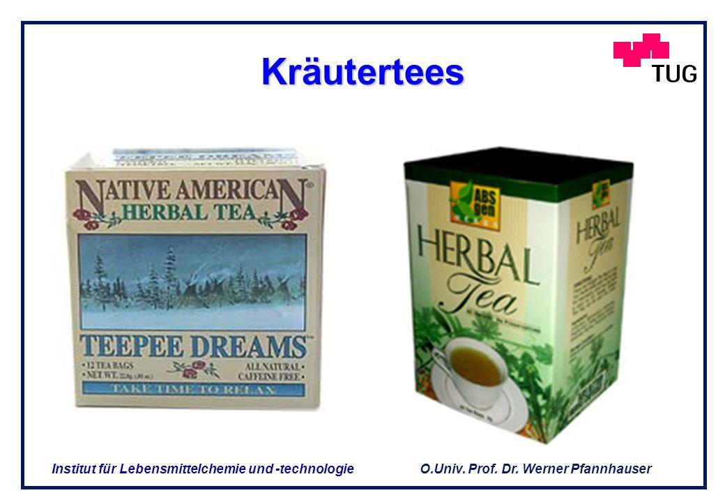 O.Univ. Prof. Dr. Werner Pfannhauser Institut für Lebensmittelchemie und -technologie 2. Produkte aus sekundären Pflanzeninhaltsstoffen(1) 2. Produkte