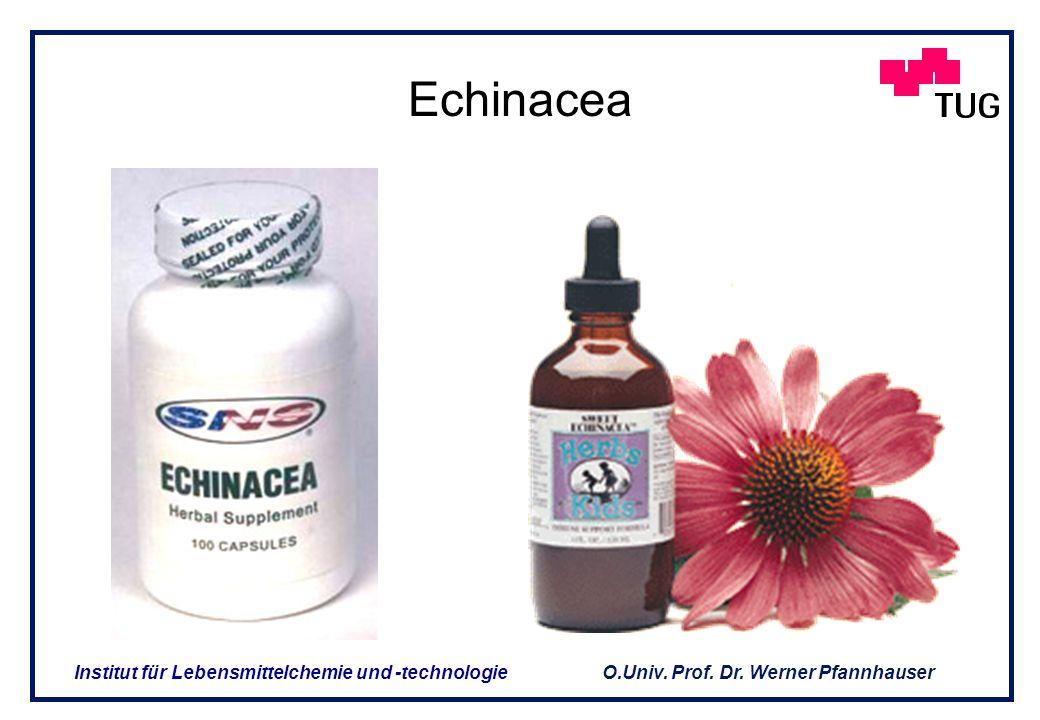 O.Univ. Prof. Dr. Werner Pfannhauser Institut für Lebensmittelchemie und -technologie 2. Produkte aus sekundären Pflanzeninhaltsstoffen (2) 2. Produkt