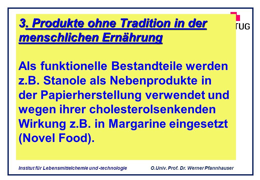 O.Univ. Prof. Dr. Werner Pfannhauser Institut für Lebensmittelchemie und -technologie Unterscheidung NEM / Funktionelle Lebensmittel Unterschied in de