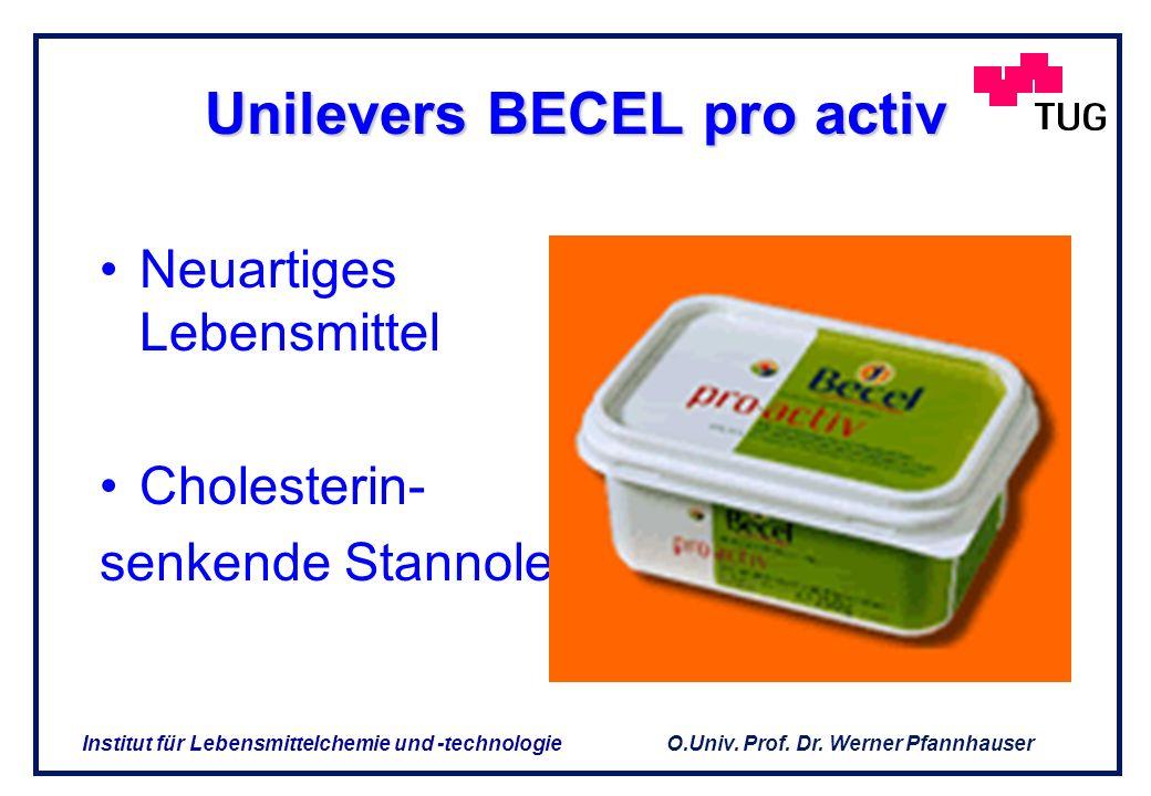 O.Univ. Prof. Dr. Werner Pfannhauser Institut für Lebensmittelchemie und -technologie 3. Produkte ohne Tradition in der menschlichen Ernährung 3. Prod