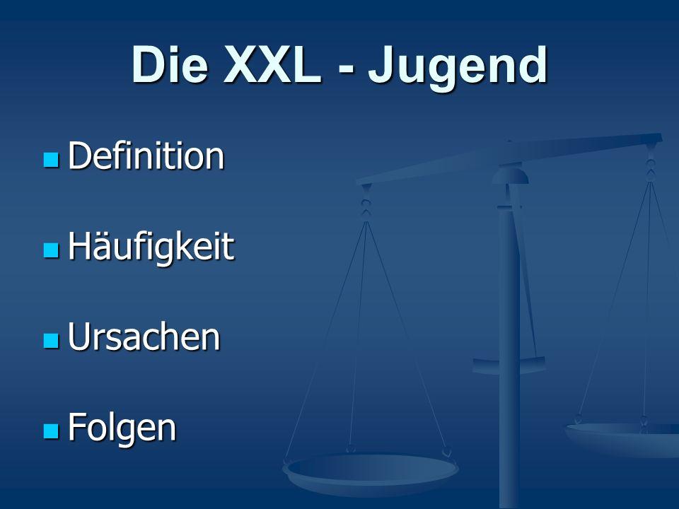 Die XXL - Jugend Definition Definition Häufigkeit Häufigkeit Ursachen Ursachen Folgen Folgen