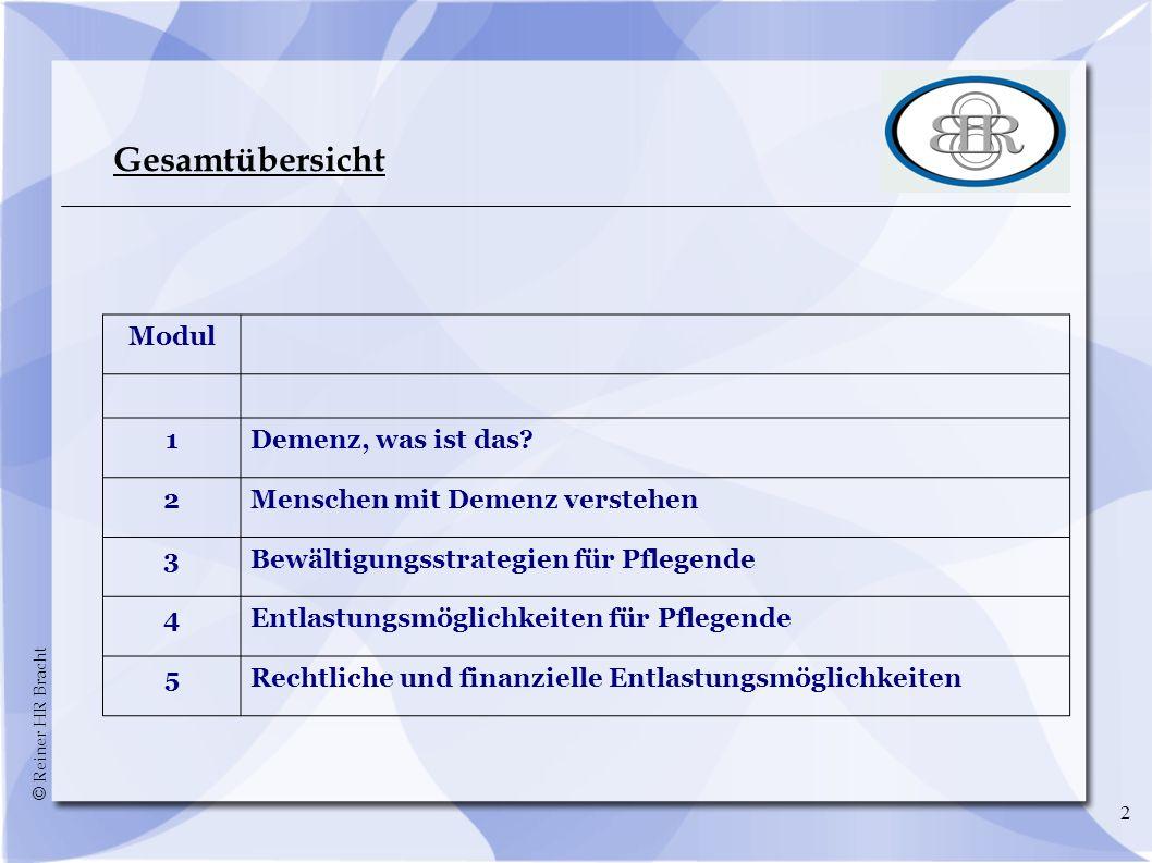 © Reiner HR Bracht 33 Demenz - Typen Alzheimer-Krankheit (ca.