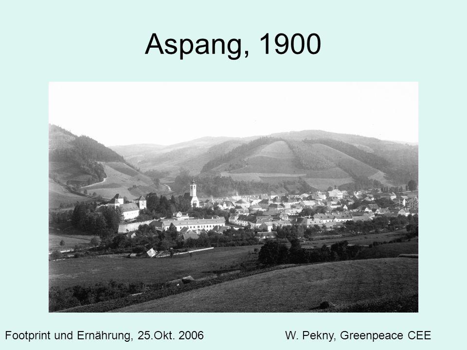 Aspang, 1900 Footprint und Ernährung, 25.Okt. 2006 W. Pekny, Greenpeace CEE