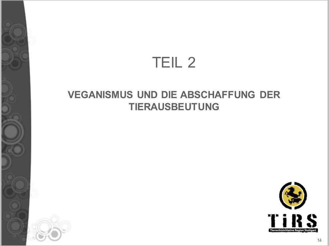 TEIL 2 VEGANISMUS UND DIE ABSCHAFFUNG DER TIERAUSBEUTUNG 14