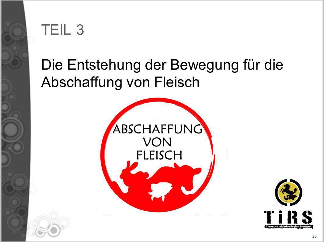TEIL 3 Die Entstehung der Bewegung für die Abschaffung von Fleisch 28