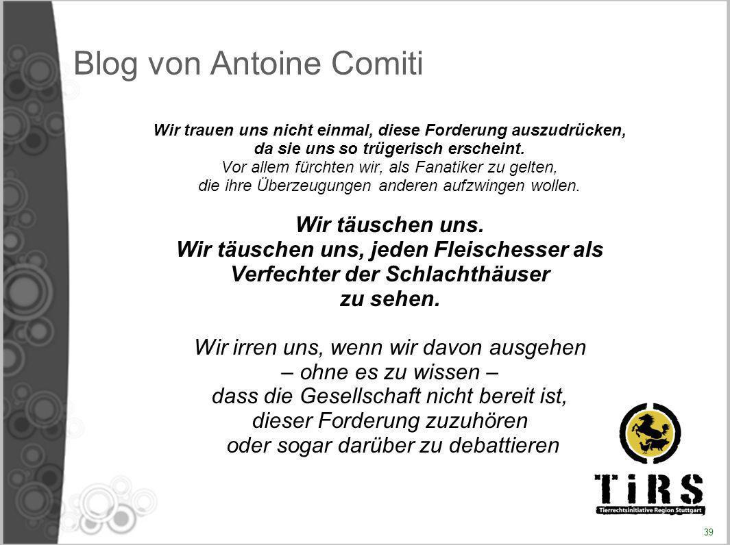 Blog von Antoine Comiti Wir trauen uns nicht einmal, diese Forderung auszudrücken, da sie uns so trügerisch erscheint. Vor allem fürchten wir, als Fan
