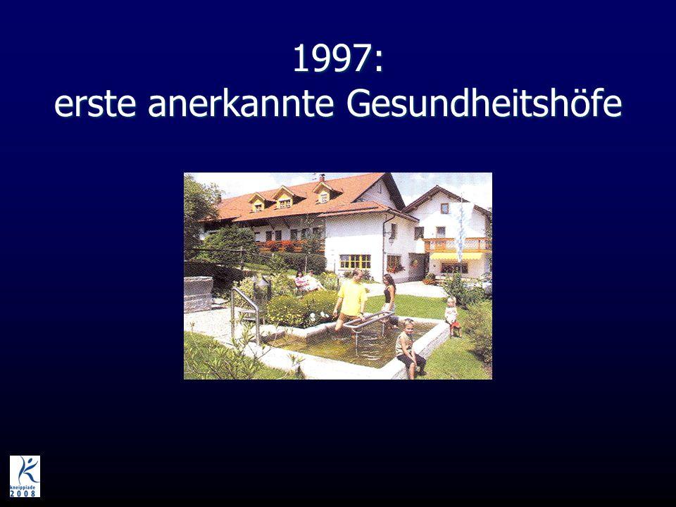 1997: erste anerkannte Gesundheitshöfe
