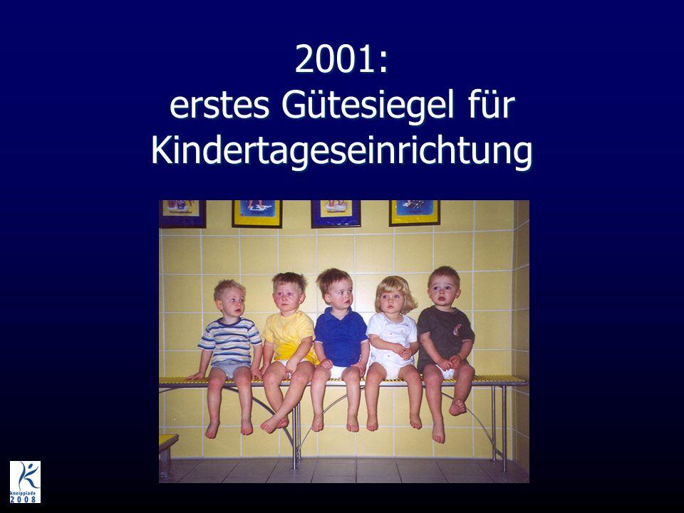 2001: erstes Gütesiegel für Kindertageseinrichtung