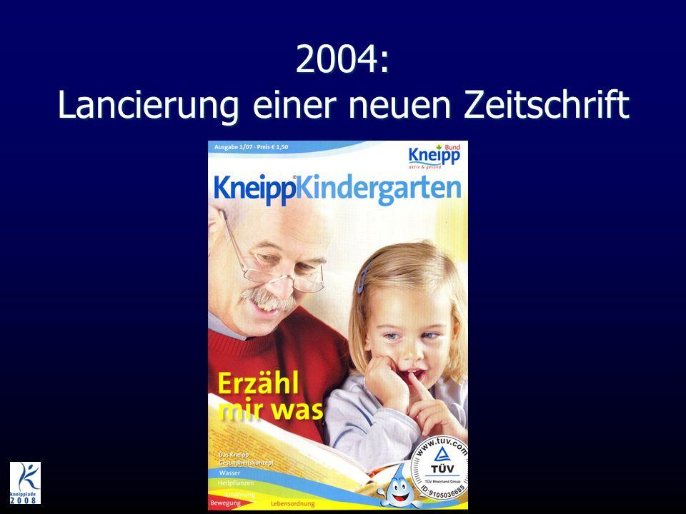 2004: Lancierung einer neuen Zeitschrift