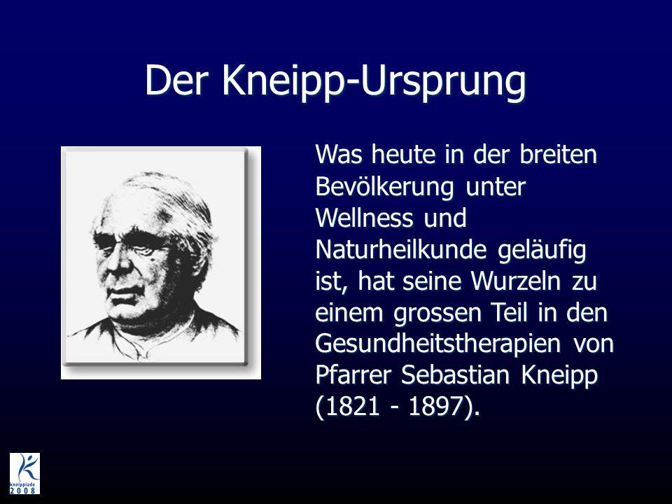 Der Kneipp-Ursprung Was heute in der breiten Bevölkerung unter Wellness und Naturheilkunde geläufig ist, hat seine Wurzeln zu einem grossen Teil in den Gesundheitstherapien von Pfarrer Sebastian Kneipp (1821 - 1897).