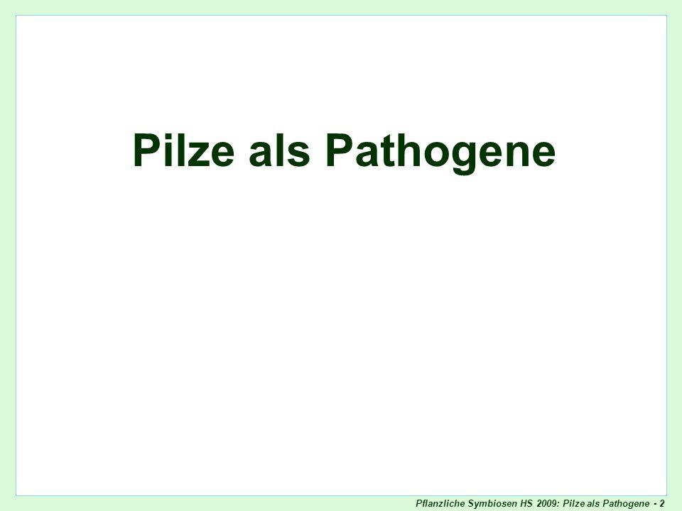 Pflanzliche Symbiosen HS 2009: Pilze als Pathogene - 73 Ein interessanter Basidiomycet: Ustilago maydis Ustilago maydis Lebenszyklus Befruchtung ohne Karyo- gamie Dikaryo- phase Karyogamie Start im Frühling: Meiose, Basidio- sporen (1n) Skript - p.