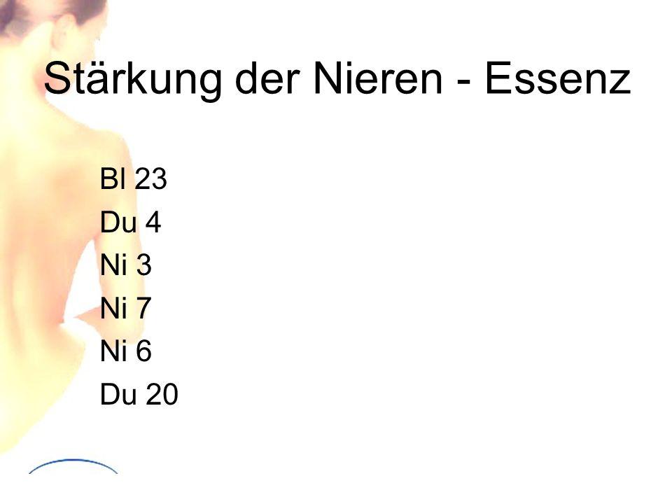 Stärkung der Nieren - Essenz Bl 23 Du 4 Ni 3 Ni 7 Ni 6 Du 20