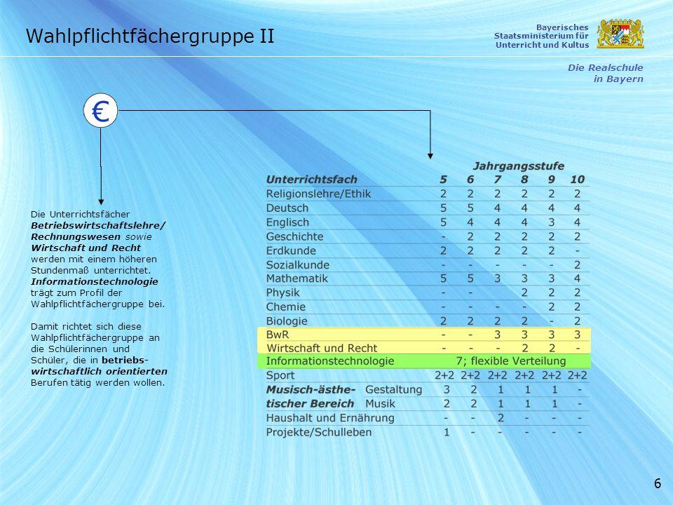 17 Die Realschule in Bayern Bayerisches Staatsministerium für Unterricht und Kultus Bildungswege in Bayern Kein Abschluss ohne Anschluss