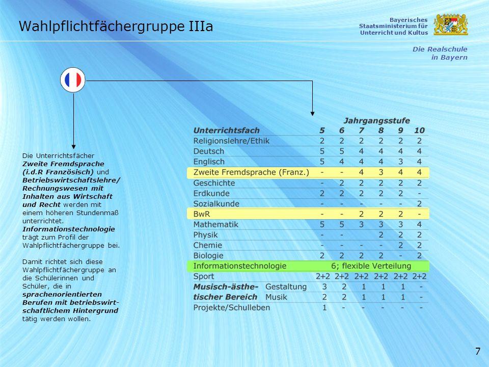 7 Die Unterrichtsfächer Zweite Fremdsprache (i.d.R Französisch) und Betriebswirtschaftslehre/ Rechnungswesen mit Inhalten aus Wirtschaft und Recht wer