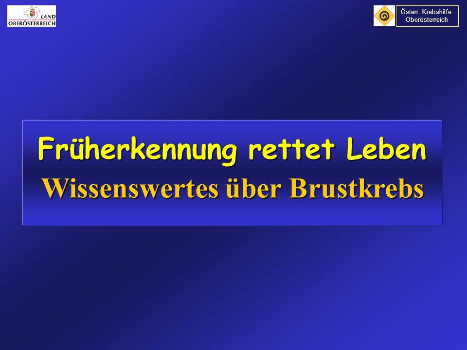 Häufigkeit von Brustkrebs in den Industrieländern ansteigend Häufigkeit von Brustkrebs in den Industrieländern ansteigend In Österreich: 81,9 / 100.000 Einwohner In Österreich: 81,9 / 100.000 Einwohner (Altersstandardisierte Rate) (Altersstandardisierte Rate) Gesamtzahl: ca.