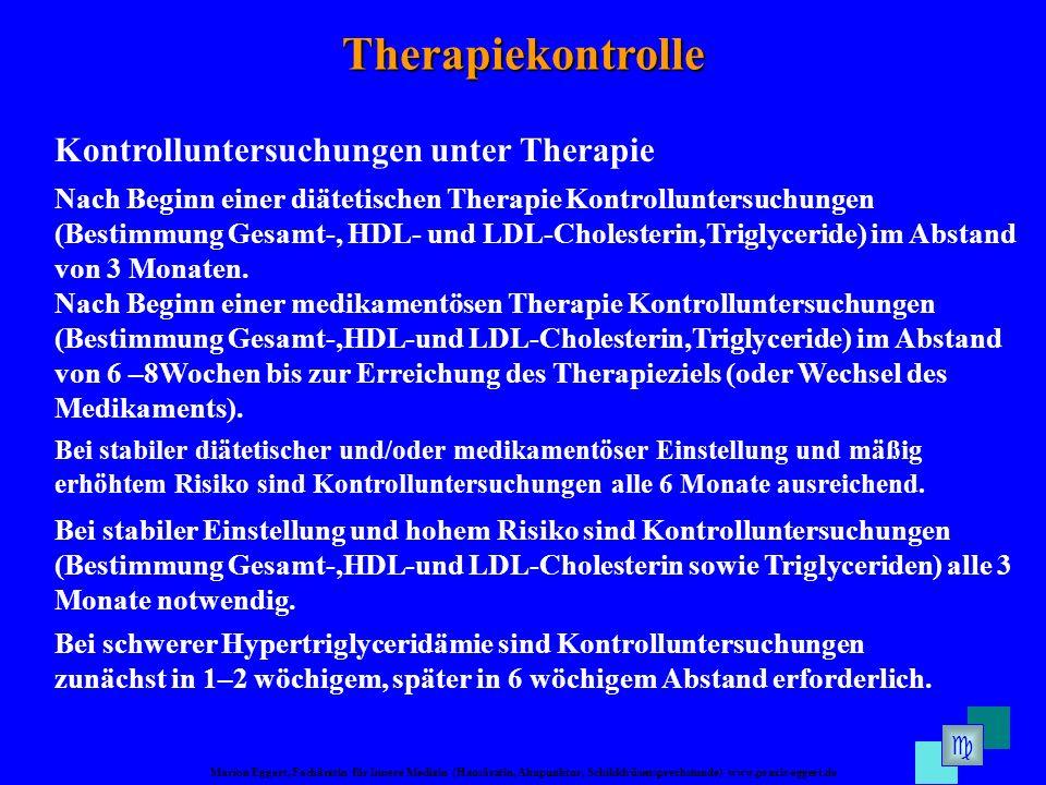 Marion Eggert, Fachärztin für Innere Medizin (Hausärztin, Akupunktur, Schilddrüsensprechstunde) www.praxis-eggert.de Therapiekontrolle Kontrolluntersu