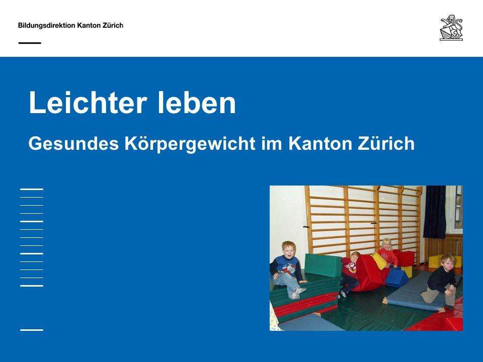 Leichter leben Gesundes Körpergewicht im Kanton Zürich