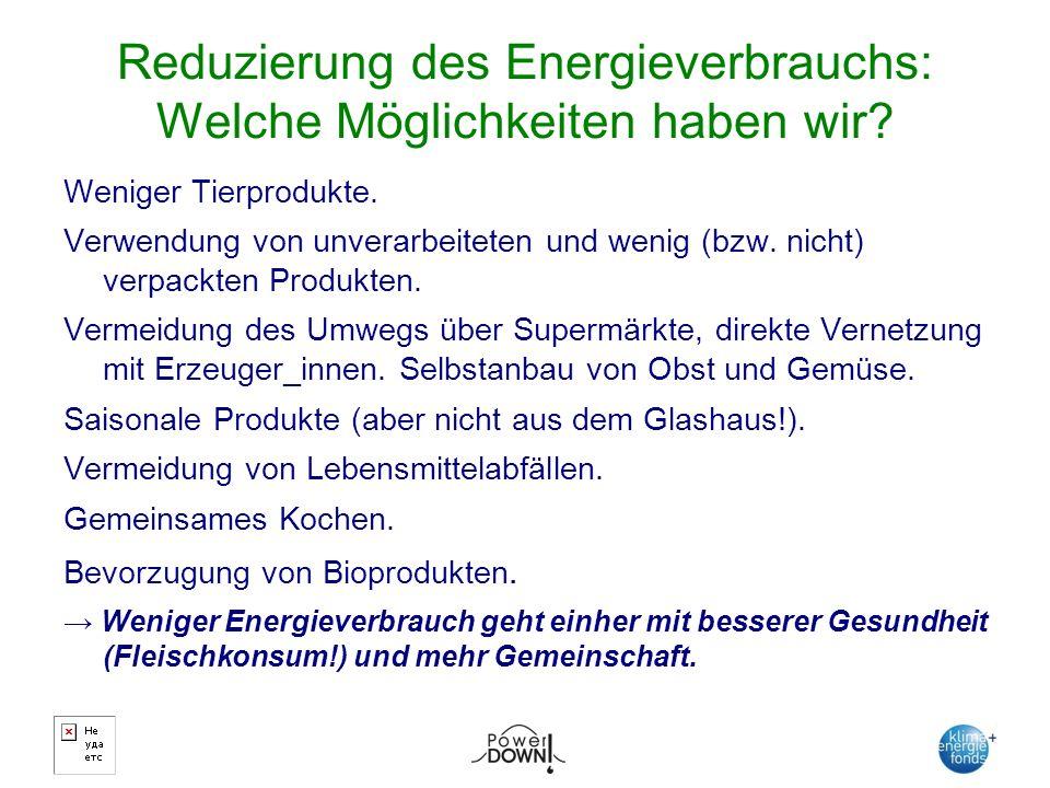 Reduzierung des Energieverbrauchs: Welche Möglichkeiten haben wir.