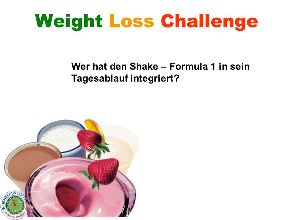 Wer verliert – gewinnt! Weight Loss Challenge Wer hat den Shake – Formula 1 in sein Tagesablauf integriert?