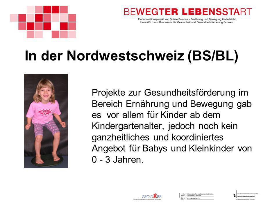 In der Nordwestschweiz (BS/BL) Projekte zur Gesundheitsförderung im Bereich Ernährung und Bewegung gab es vor allem für Kinder ab dem Kindergartenalter, jedoch noch kein ganzheitliches und koordiniertes Angebot für Babys und Kleinkinder von 0 - 3 Jahren.