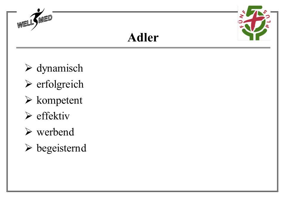 Adler dynamisch erfolgreich kompetent effektiv werbend begeisternd