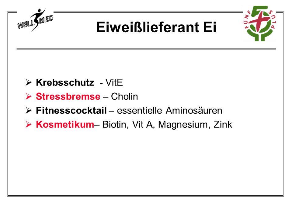 Krebsschutz - VitE Stressbremse – Cholin Fitnesscocktail – essentielle Aminosäuren Kosmetikum– Biotin, Vit A, Magnesium, Zink Eiweißlieferant Ei