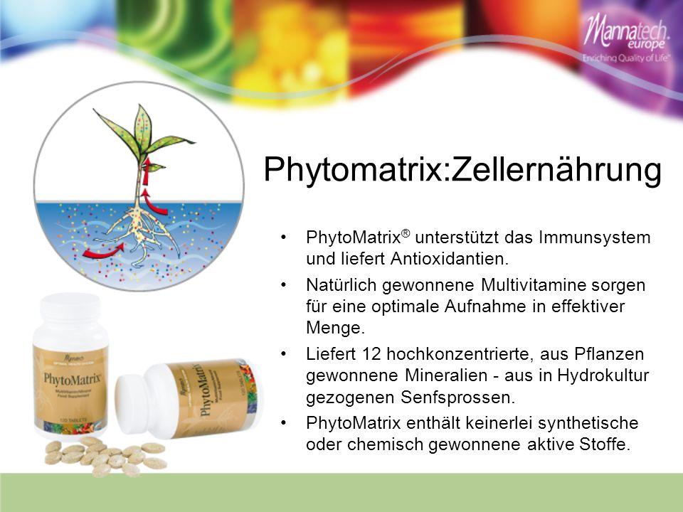 Phytomatrix:Zellernährung PhytoMatrix ® unterstützt das Immunsystem und liefert Antioxidantien. Natürlich gewonnene Multivitamine sorgen für eine opti