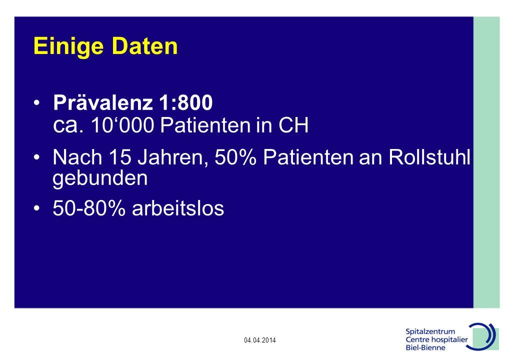 04.04.2014 Epilepsie, Diskussionsrunde Schlussfolgerung (2/3) Fatigue bei ¾ Patienten mit MS, häufig störender als neurologische Defizite Fatigue: Multimodale Therapie: Sprechen mit Patienten + Verwandten Leichte sportliche Aktivität, Siesta Evtl medikamentöse Therapie mit Amatadine, Modafinil oder Aspirin