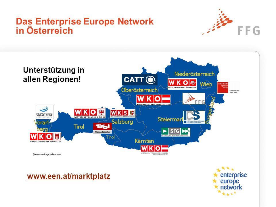 Das Enterprise Europe Network in Österreich Unterstützung in allen Regionen! www.een.at/marktplatz