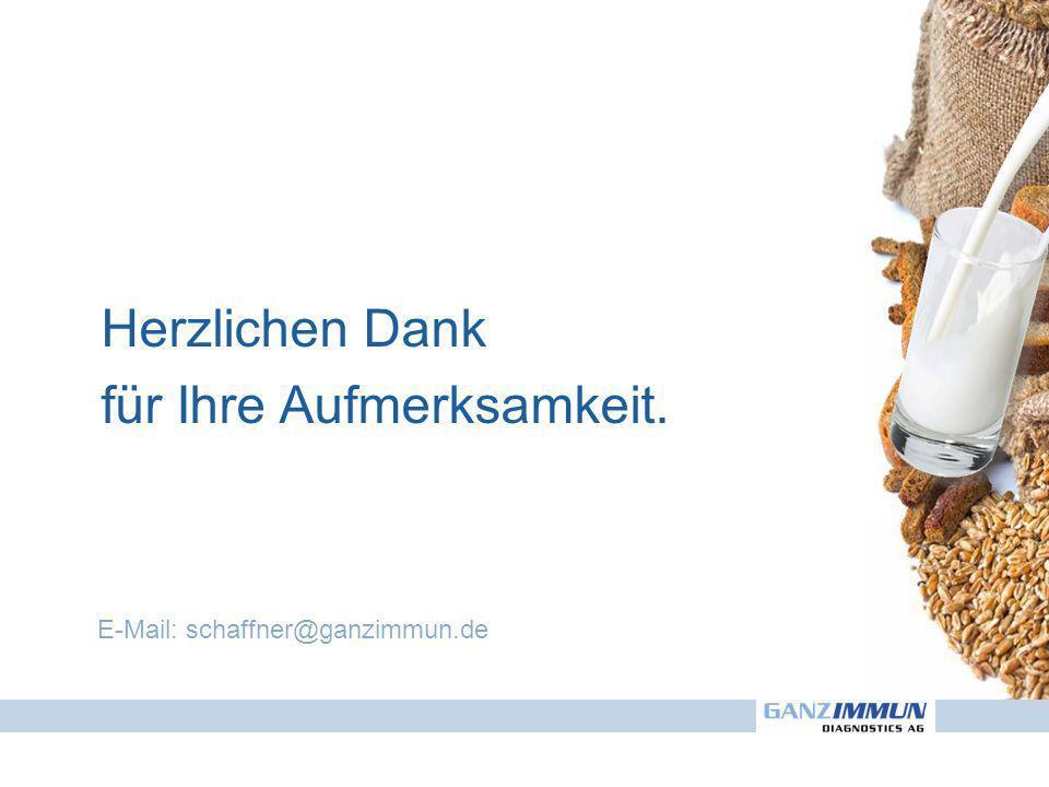 Herzlichen Dank für Ihre Aufmerksamkeit. E-Mail: schaffner@ganzimmun.de
