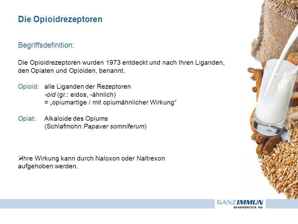 Die Opioidrezeptoren Begriffsdefinition: Die Opioidrezeptoren wurden 1973 entdeckt und nach Ihren Liganden, den Opiaten und Opioiden, benannt. Opioid: